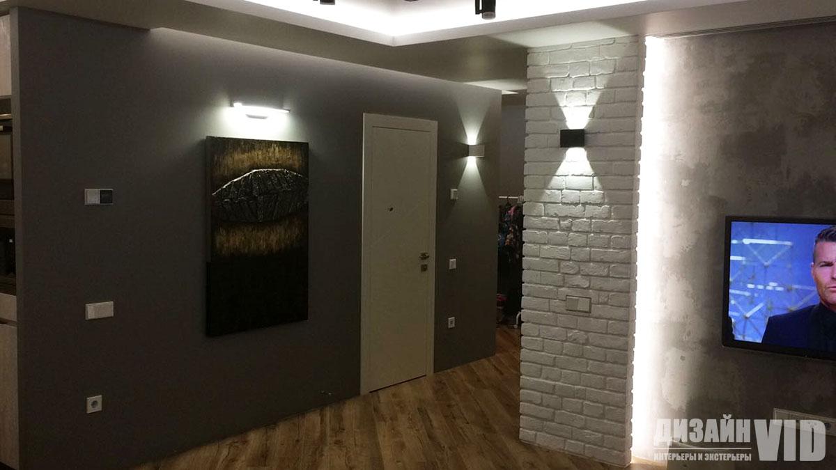 Дизайн современного коридора в стиле лофт