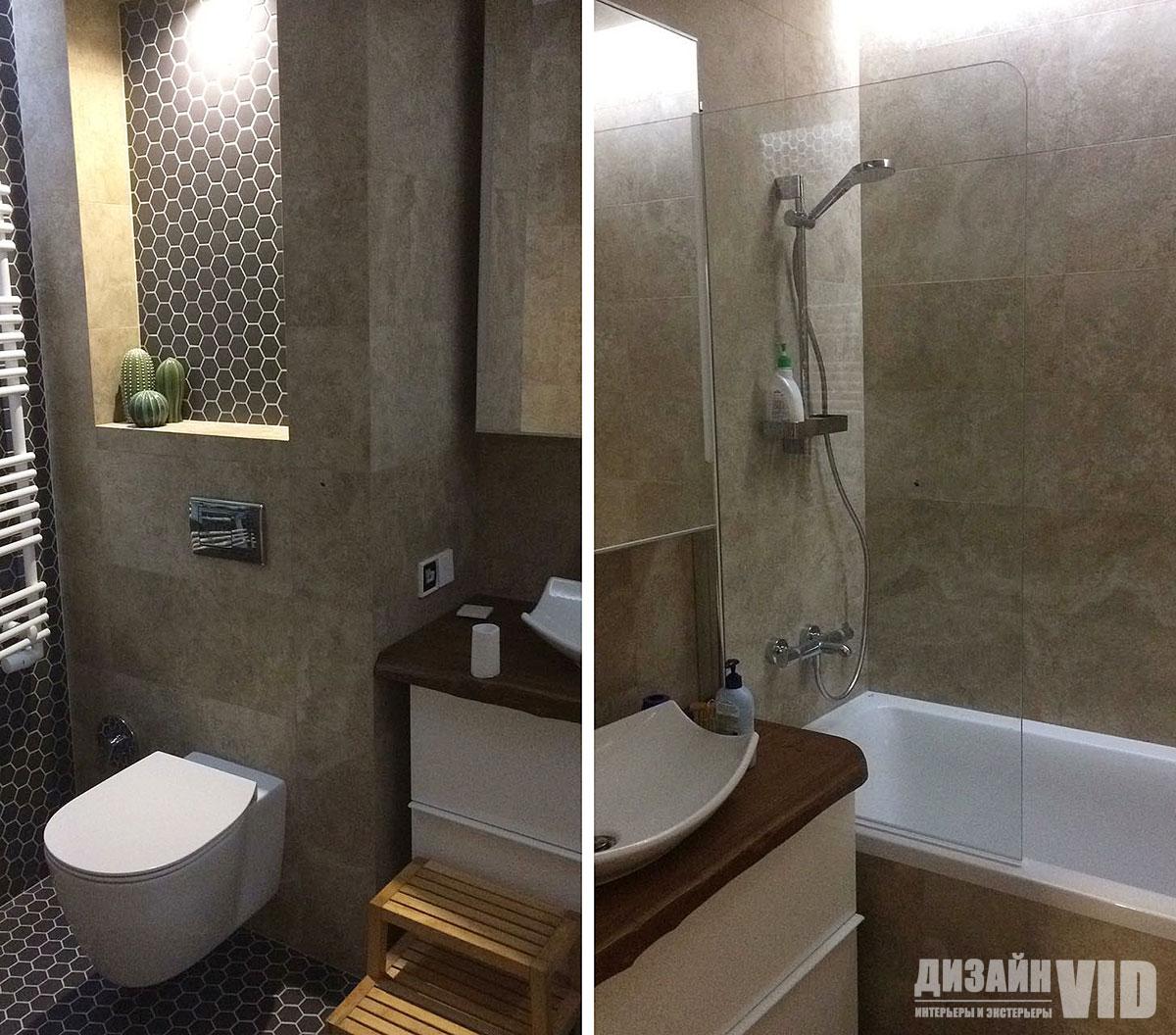 Дизайн проект ванной комнаты в трехкомнатной квартире