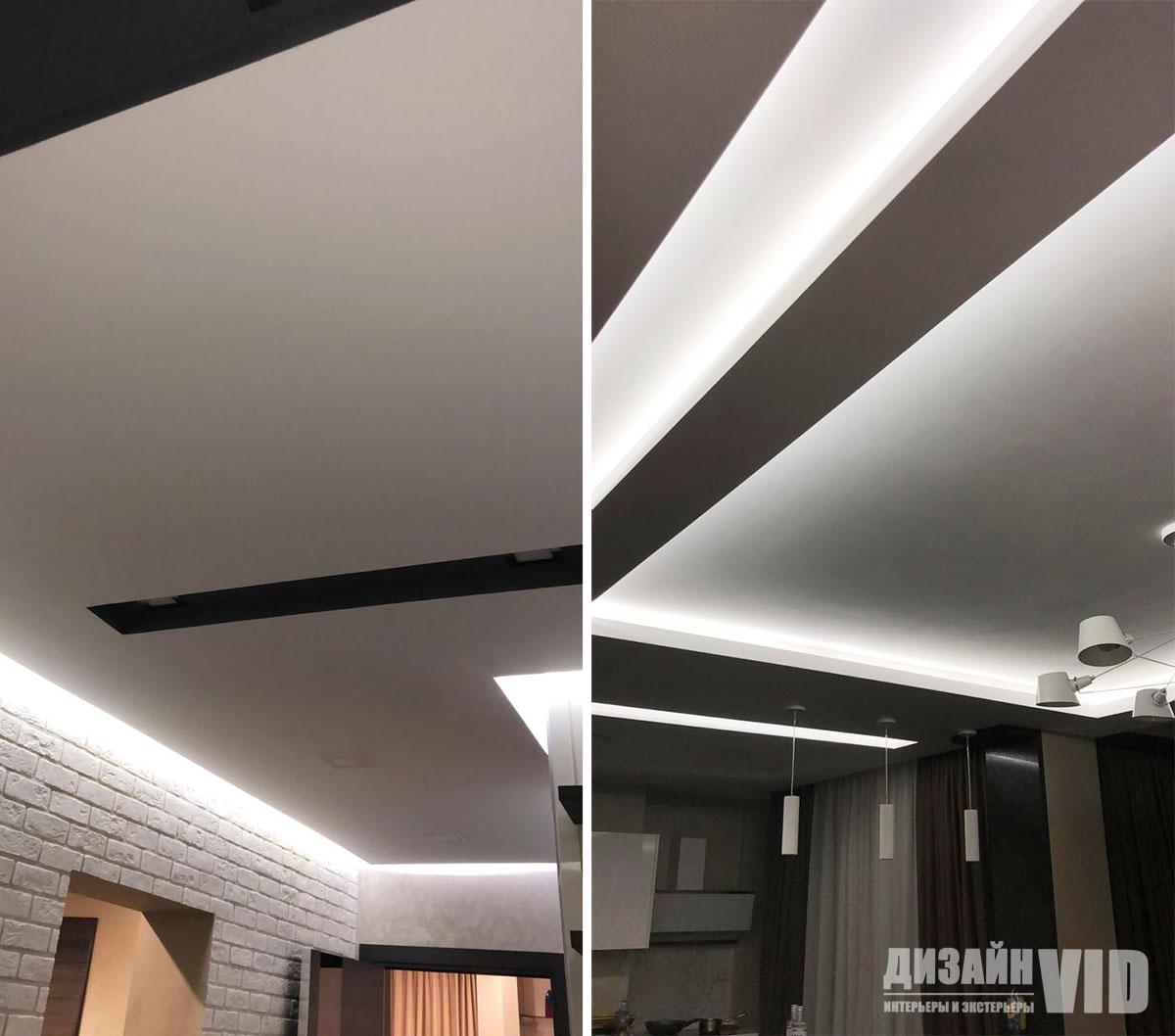 Современные потолки с подсветкой в квартире
