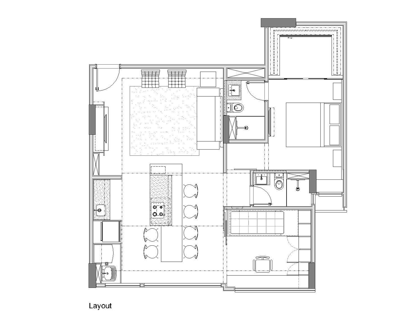 план квартиры Trama в Бразилии