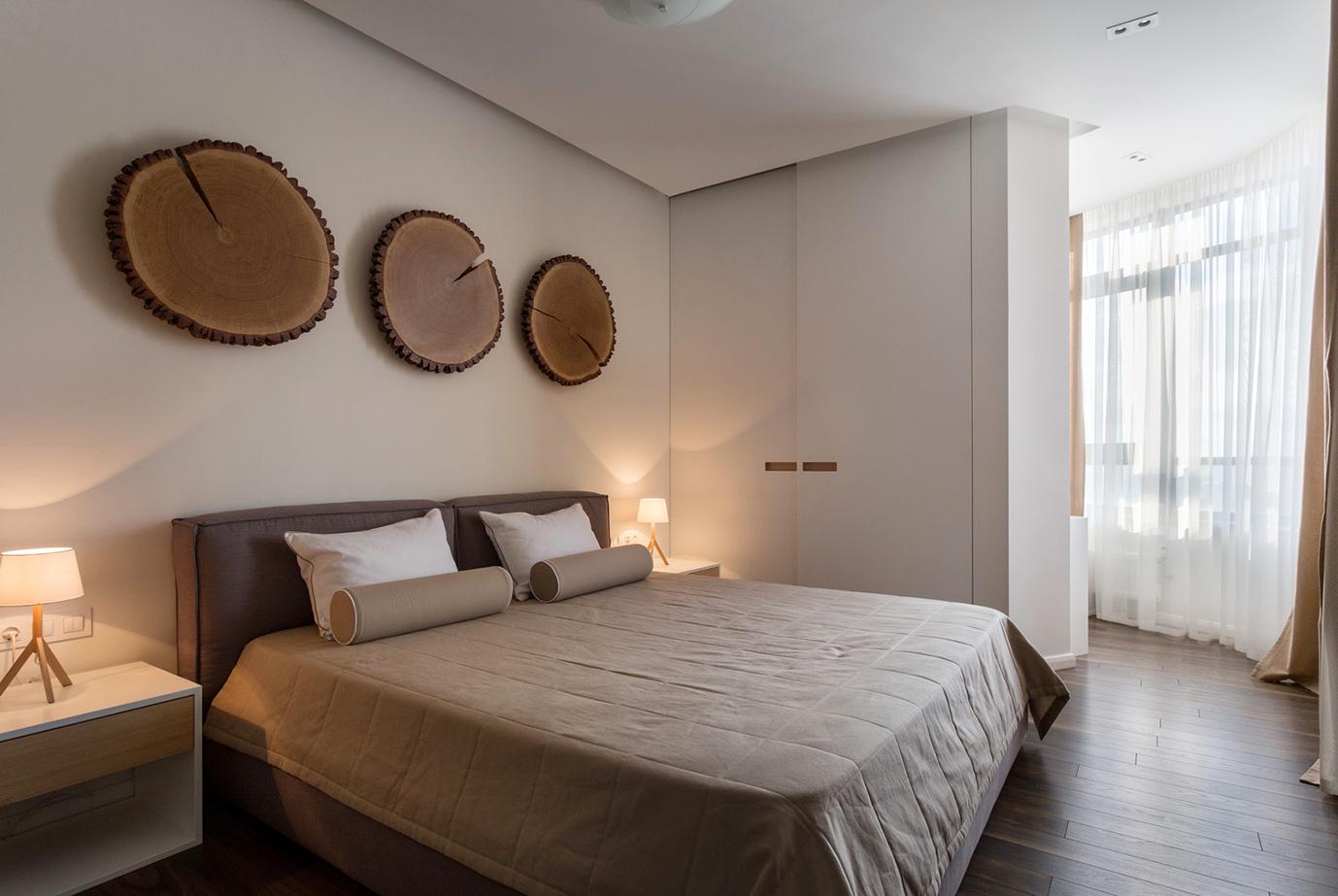 Интерьер спальни квартиры в Харькове