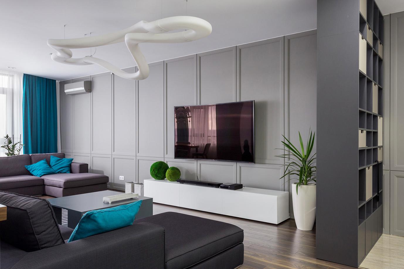 Интерьер зала квартиры в Харькове