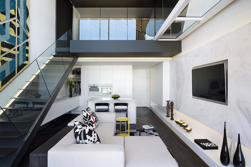 Интерьер апартаментов дома De Waterkant