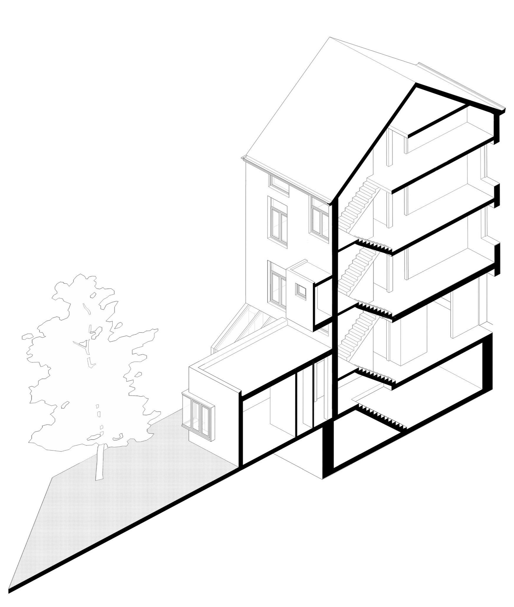 Обновленный дом в Бельгии графика