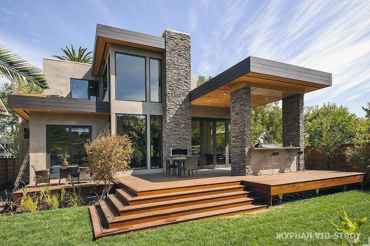 современный дом с террасой