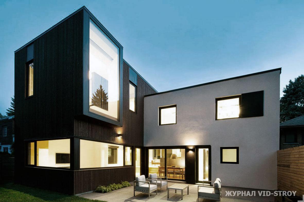 дом в виде кубов