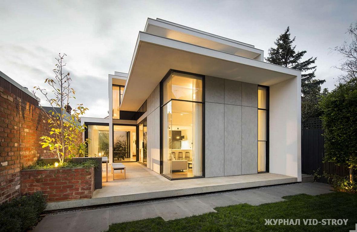 современный геометричный дом
