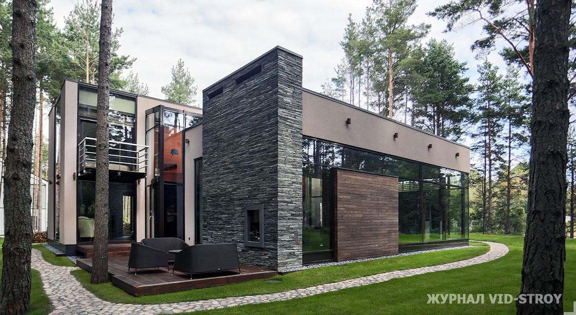 Современный дом в стиле Райта