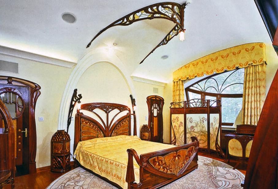 спальня в арт-нуво