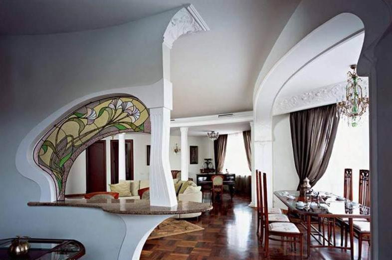 гостиная в стиле арт-нуво