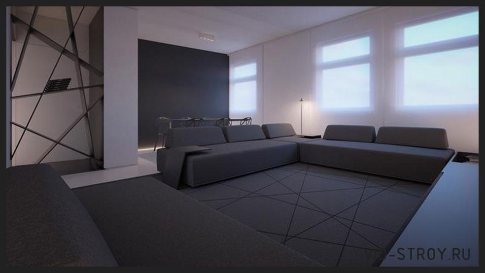 минималистичный зал