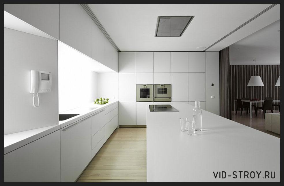 строгий минимализм в кухни