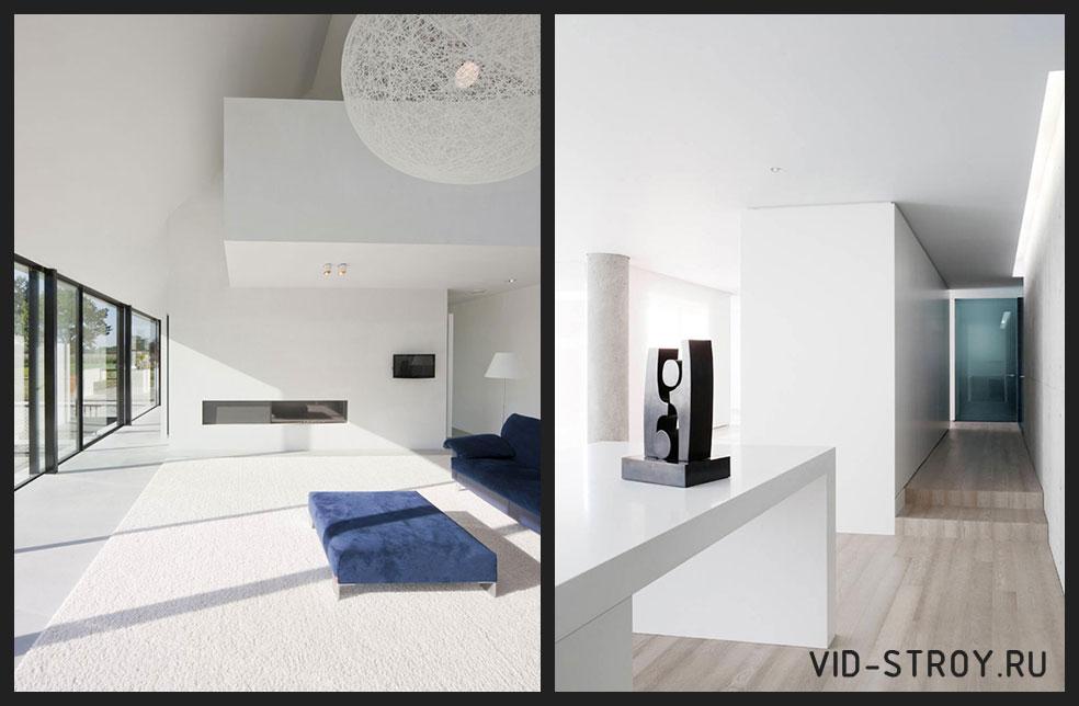 белые интерьеры в минимализме