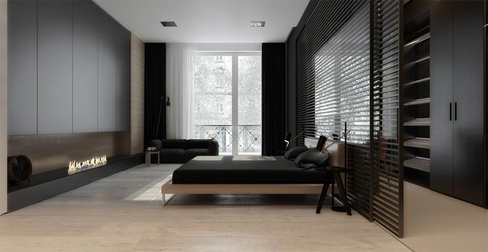 интерьер минималистичной спальни фото