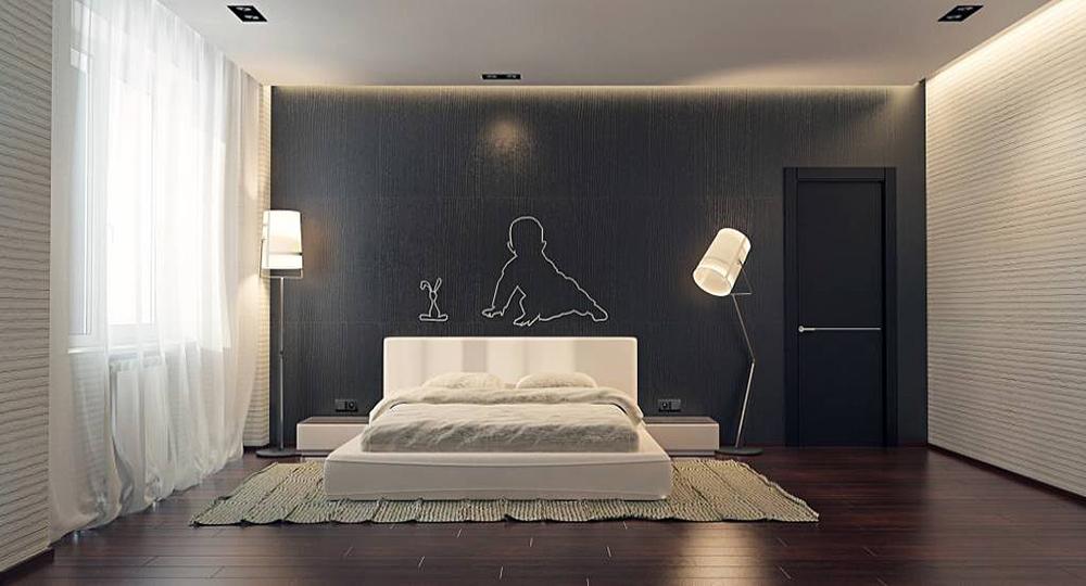 дизайна спальни в стиле минимализм