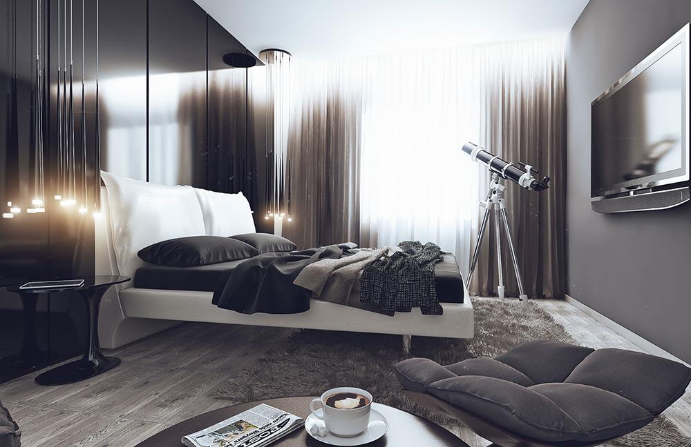 Фото современной спальни в минимализме